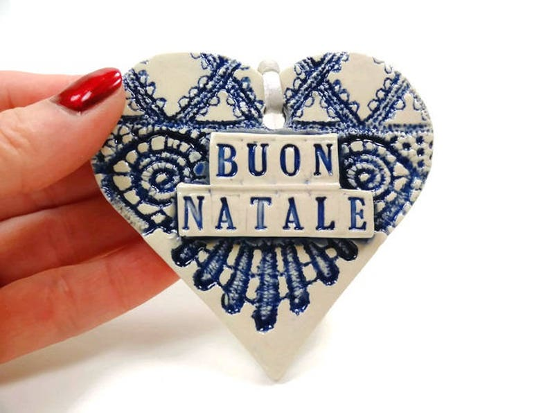 Buon Natale Ornament.Buon Natale Ornament Italian Ornament Holiday Decor Italian Christmas Holiday Hostess Gift Italy Christmas Christmas Tree Ornament