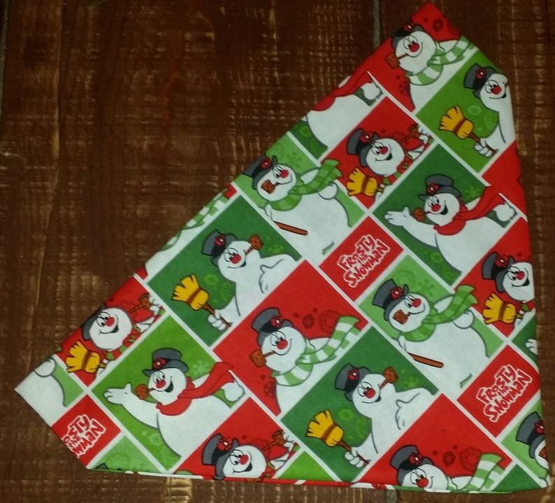 Dog Bandana made from Frosty the Snowman Christmas fabric!