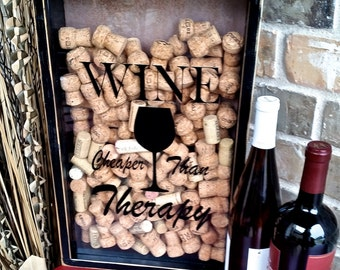Wine Cork Display Holder Wedding Gift House Warming Shower Gift Bar Decor Gift for Him or Her