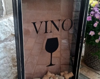 Wine Cork Display Holder Vino Wedding Gift House Warming Shower Gift Bar Decor Christmas Gift for Him or Her