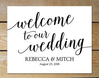Welcome Wedding Sign // Large Wedding Welcome Sign Poster // Editable Welcome Sign // Wedding Welcome Template