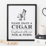 Wedding Cigar Bar Sign, Cigar Sign Vintage, Cigar Bar Ideas, Printable Wedding Signs, Instant Download