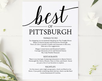 things to do wedding itinerary template wedding welcome bag note instant download wedding printable