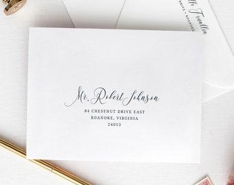 Calligraphy Wedding Envelope Template, Envelope Addressing Template, Printable