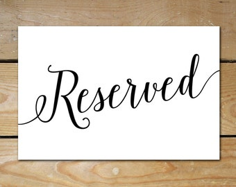 Accomplished image intended for printable reserved table sign