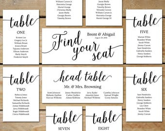 printable seating chart wedding seating chart cards editable seating chart template diy seating chart cards for picture frame collage