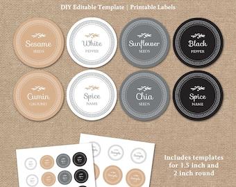 spice jar labels templates