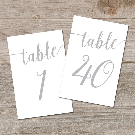 wedding table numbers silver 1 40 5x7 4x6 table numbers etsy