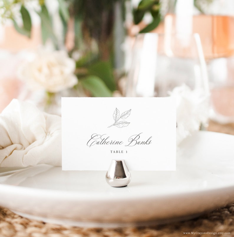Place Cards Wedding Printable Calligraphy Place Cards image 0