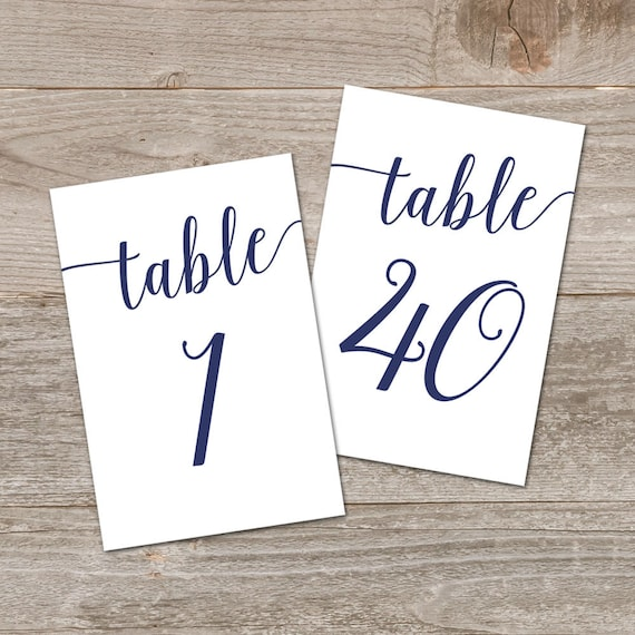 Peachy Navy Table Numbers Wedding Printables Printable Table Numbers 1 40 Navy Wedding Decor Download Free Architecture Designs Embacsunscenecom