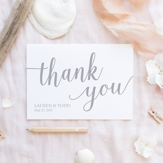 Ypus Silver Wedding Thank: Silver Thank You Cards Printable / Silver Wedding