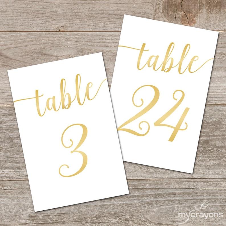 Tremendous Gold Table Numbers Wedding Printable Wedding Table Numbers Gold 5X7 4X6 Download Free Architecture Designs Embacsunscenecom