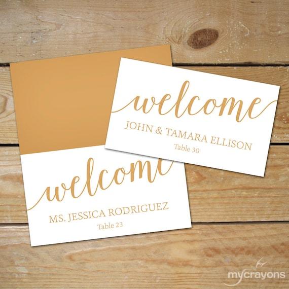 Bella Script Wedding Place Cards Printable DIY