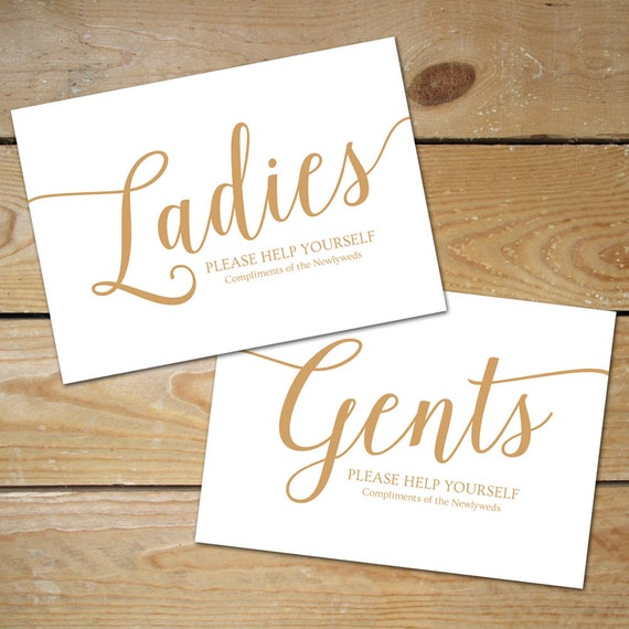graphic regarding Bathroom Sign Printable referred to as Marriage Lavatory Basket Indication Printable // Caramel Gold Marriage Lavatory Indication // Gents and Women of all ages Toilet Indicator, Instantaneous Obtain