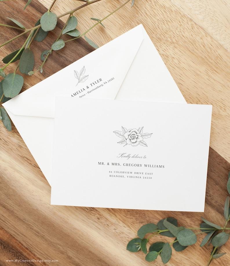 Envelope Label Template Wedding Envelope Addressing Template image 0