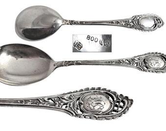 Antique German 800 Silver Spoon.