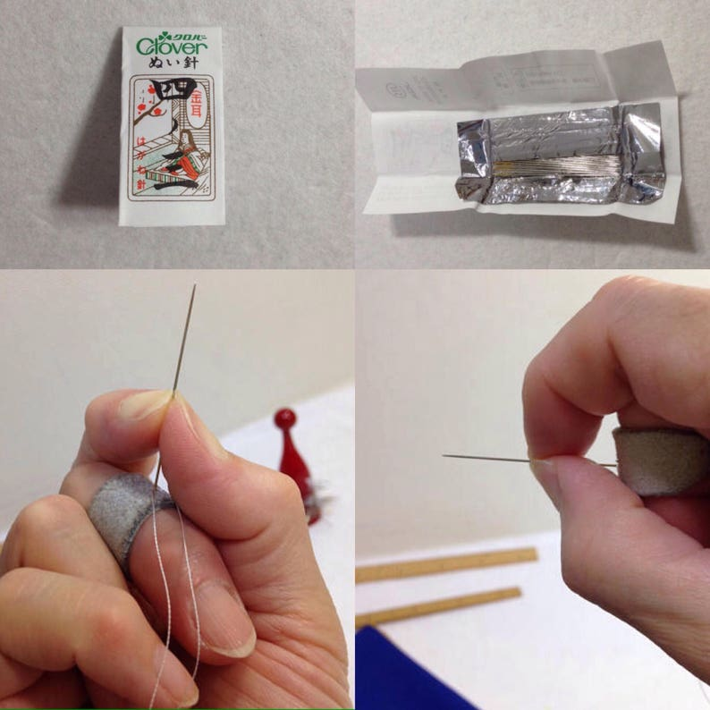 hand-sewing needles 25 pieces [4-3] best thickness ( 4 ) for sewing kimono  , standard length for women ( 3 ) - made in Japan ,Clover co jp