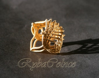 Ring The Iroquois\ knuckle / size 6 US (16,5 mm)/3D printed jewelry