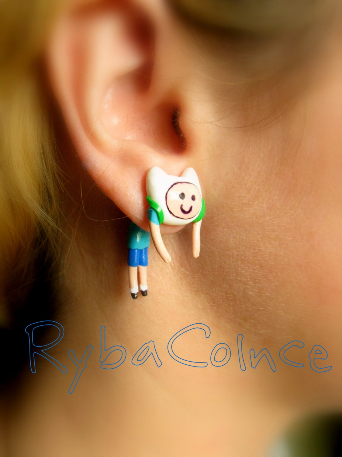 Fake ear gauge Faux gauge Gauge earrings plug fake