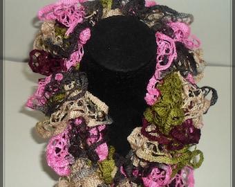 Crocheted Ruffled Scarf