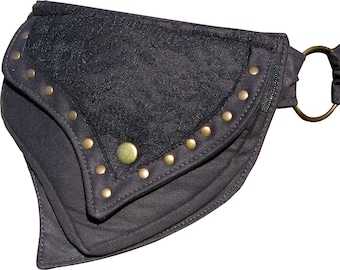 Festival Cotton Pocket Belt, Utility Belt, Money Belt, Bum Bag with lace detail.
