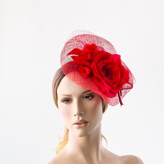 62447b68f73 Red Horse races hat kentucky derby hat royal ascot hat for