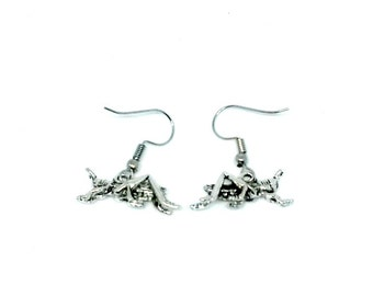 Cricket Dangle Earrings Grasshopper earrings Handmade Gift