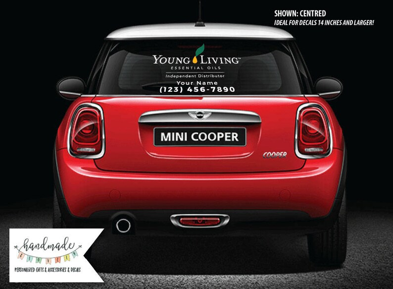 2dbbb5a996 Young Living Custom Car Window Decals Custom Decal