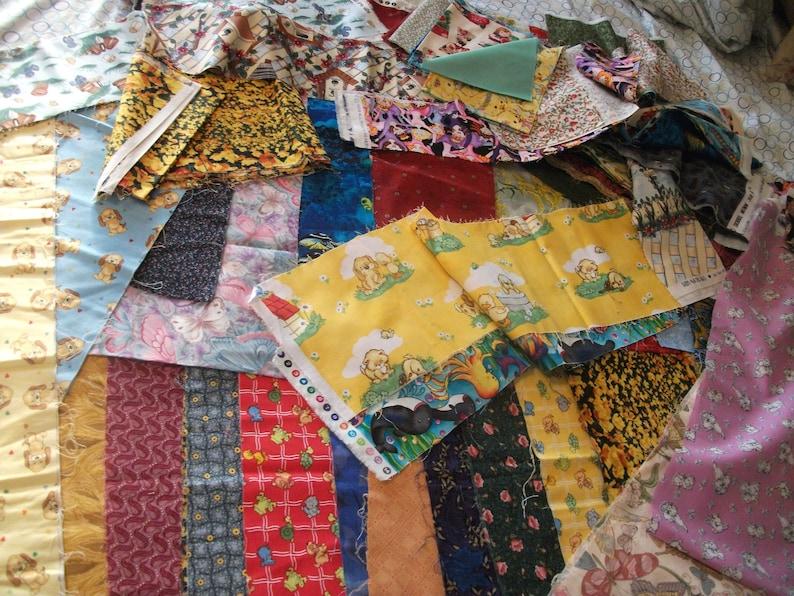 Adorable QSQ cotton fabric strip 142 panels Variety box 3.5~7.5X WOF Quilting Cutesy OOP Animals Floral Moda Rose Hubble Northcott Mum Sew