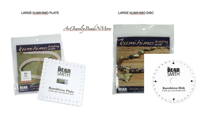Large Kumihimo Disc/ Plate w Patterns & Instructions for  image 0