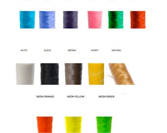 10M)  ARTIFICIAL SINEW - Waxed POLYESTeR Cord, Dream Catcher Cord / webbing string, Colored or NEON Colors,  macrame cord, Braiding Cord