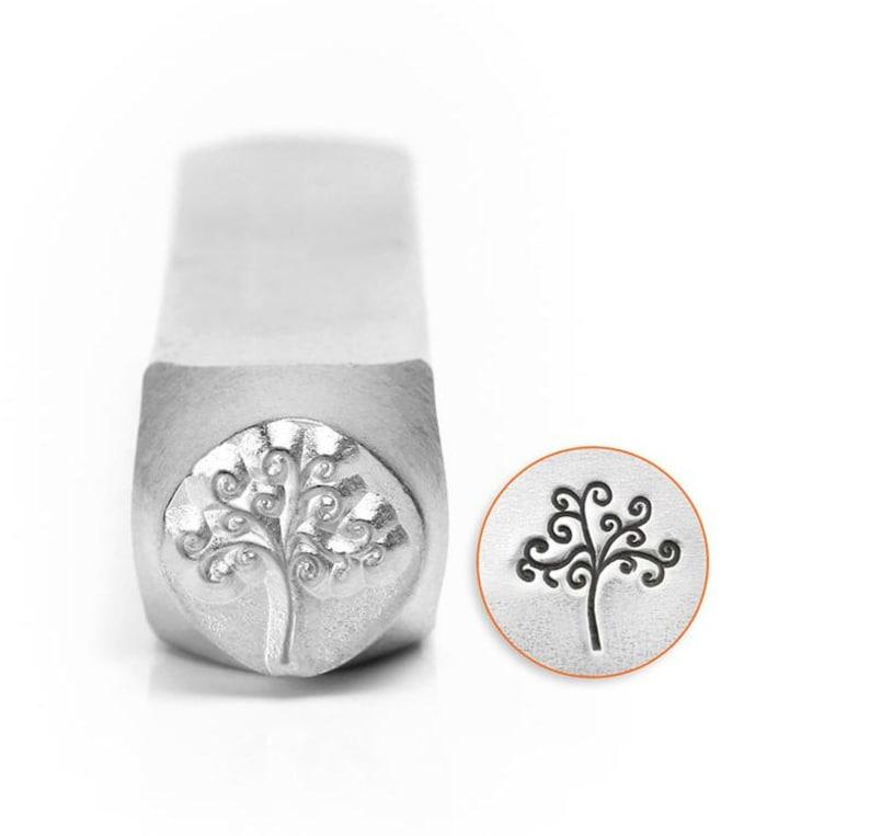 6mm or 9.5mm TREE OF LIFE Metal Stamp ImpressArt Tree of Life image 0
