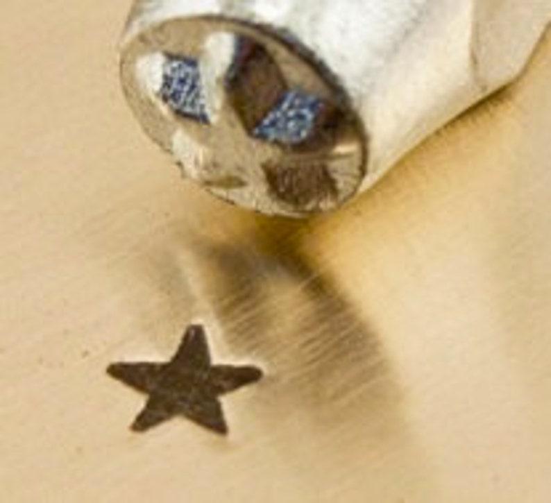 Solid Star Metal Stamp 3mm ImpressArt Star stamp stars image 0