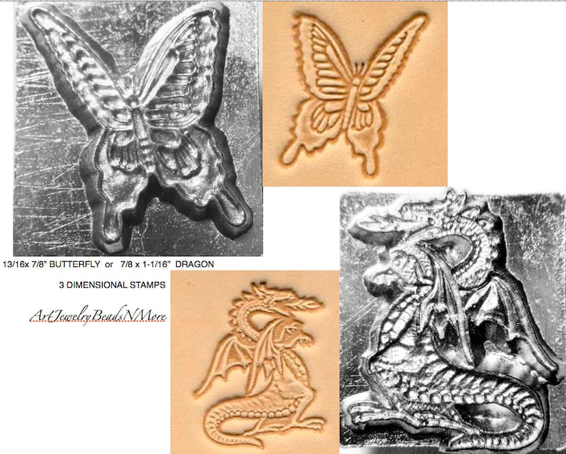 13/16 x 7/8 BUTTERFLY or 7/8 x 1-1/16 DRAGON image 0