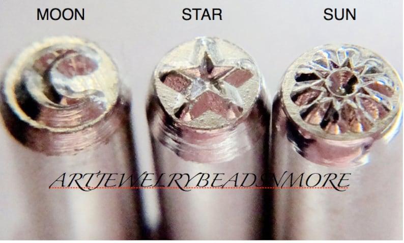 Celestial Metal stamp set  SUN / MOON / STAR Star wars / image 0