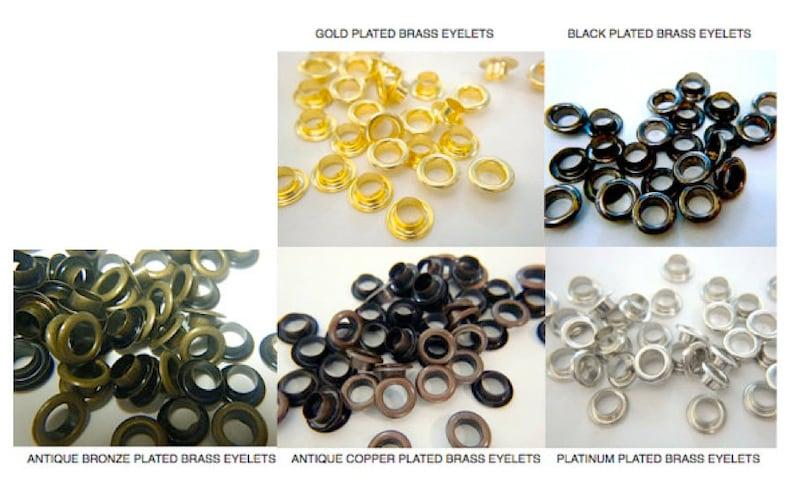 BRASS EYELETS  100 5mm ID  Black Gold image 0