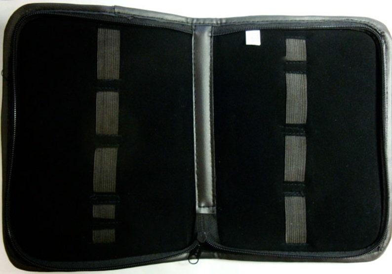Black TOOL Folder Leatherette Exterior Padded Velvet image 0