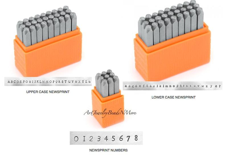 2.5mm Numbers ImpressArt Basic Metal Stamp Set