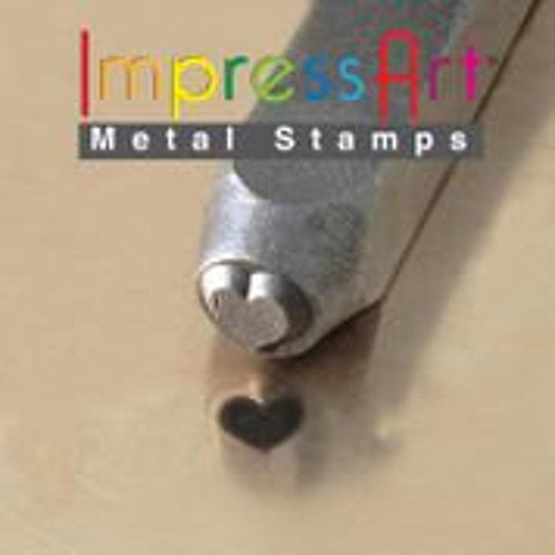 ImpressArt 6mm Solid Heart Metal Stamp Hearts Traditional image 0