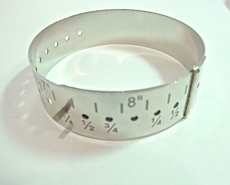 Metal Bracelet Gauge Sizing Tool Nickel Silver  Only 3.65 image 0