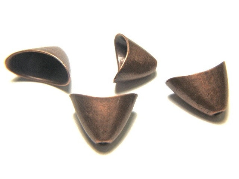 10 19mm x 11mm Antique Copper End Caps Large Kumihimo / image 0