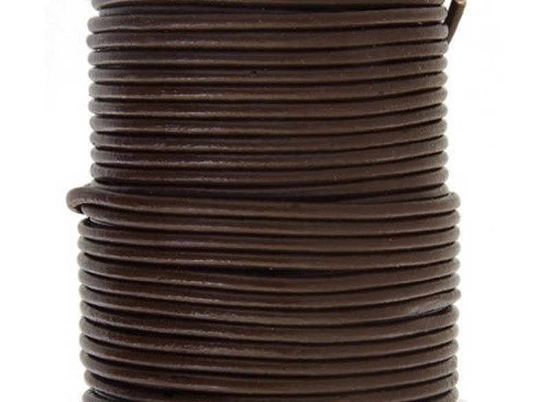4 Yd  0.5mm or 1.5mm BROWN Leather Cord in Rich Brown Leather image 0
