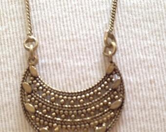 Brass Necklace, Long Necklace, Pendant, Unique Boho Necklace, Brass Hipster Necklace, Brass Jewelry, Hipster Jewelry, Boho Jewelry