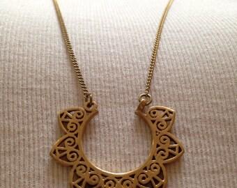 Brons Necklace, Long Necklace, Pendant, Unique Boho Necklace, Brons Hipster Necklace, Brons Jewelry, Hipster Jewelry, Boho Jewelry, Chain