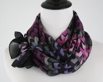 1990s Chevron Oblong Scarf