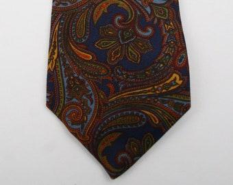 Vintage Aquascutum of London Paisley Silk Tie