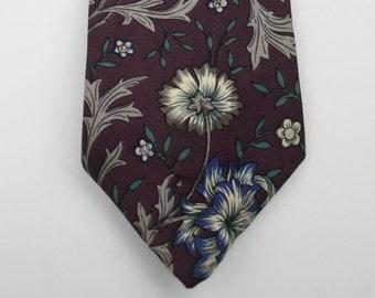Vintage Oscar de la Renta Floral Silk Tie