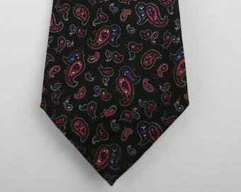 Vintage Christian Dior Paisley Silk Tie