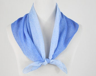 LIMITED INVENTORY Blue Ombre Floral Flannel Cotton Pet BandanaScarf