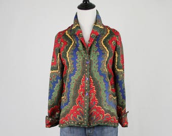 1960s Silk Greta Plattry Original Blouse French Cuffs